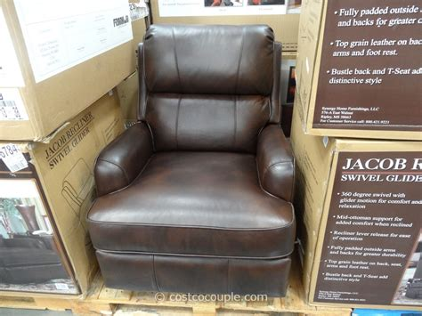 costco recliners synergy jacob leather swivel glider recliner