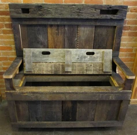 barn wood bench barn wood entry bench with storage la casa pinterest barn wood storage and