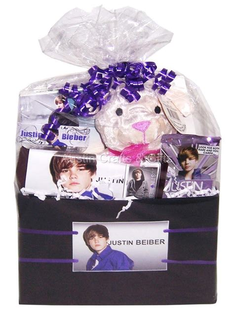 new justin bieber gift basket birthday easter nip ebay