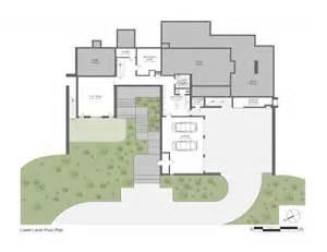 Modern sloping block house design with three storey floor plan home