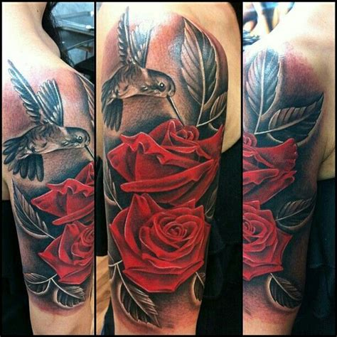 hummingbird rose tattoo hummingbird with roses search