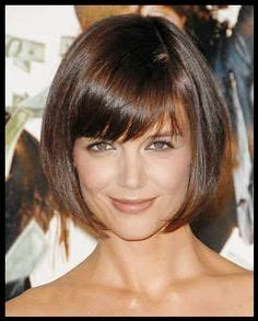 below ear length bob one level with short bangs around face tucked behind the ears hairstyles bob hair style and