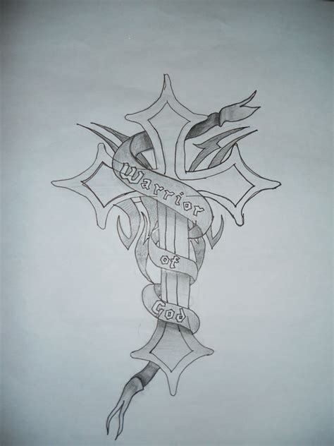 god on cross tattoo quot warrior of god quot cross design by breigh urbanec