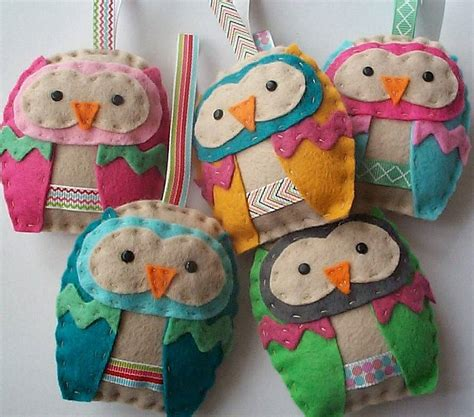 Felt Paper Craft - felt owl ornament craft kit by paper and string