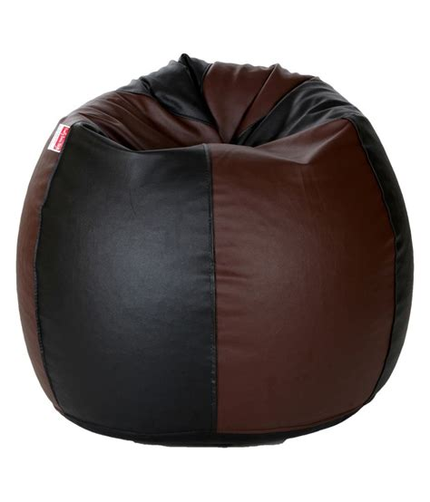 biggie cozy bean bag xxxl size black brown filled buy online rs 2499 snapdeal