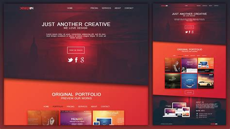 design html page using photoshop design a creative portfolio web design layout in photoshop