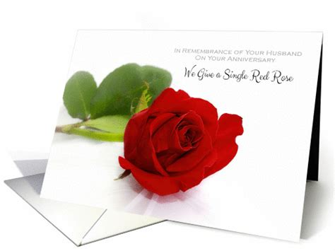 Wedding Anniversary Card For Widow by Anniversary Remembrance Of Husband For Widow With