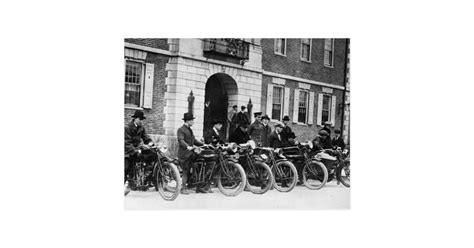 Postcard Squads motorcycle squad early 1900s postcard zazzle
