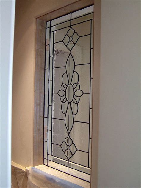 design glass leaded rosette glass window stained glass french decor
