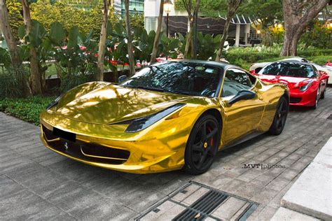 Chrome Gold Ferrari 458   MadWhips
