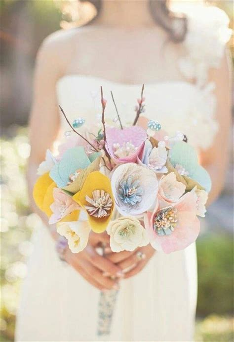 Flower Bouquet With Paper - 21 wedding bouquet ideas diy to make