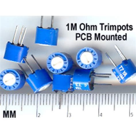 how to measure trimmer resistor buy 1m ohm trimmer potentiometer pcb mount adj resistor pack of 10 melbourne australia