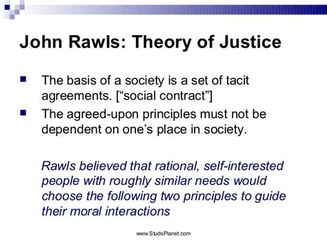 A Theory Of Justice theory of justice