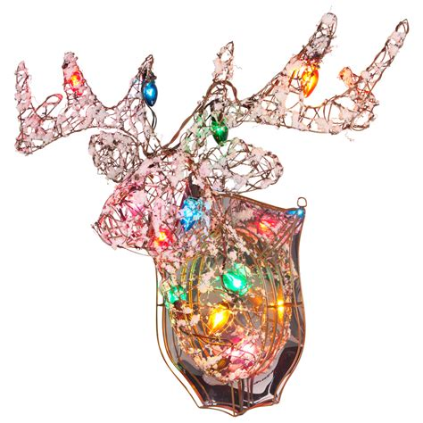 shop gemmy 2 62 ft reindeer lighted outdoor christmas