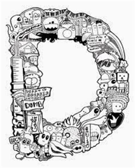 doodle name huruf i alesia dodle huruf d