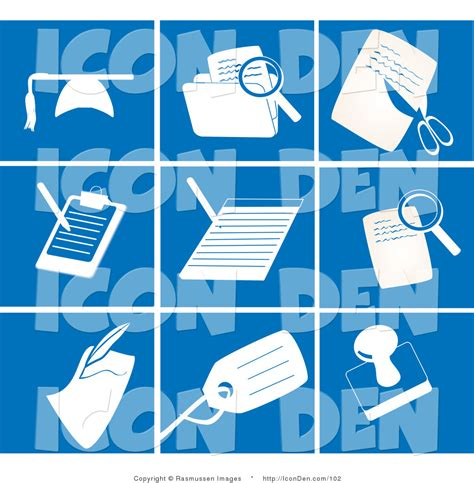 Office Clip Collection by Royalty Free Stock Icon Designs Of Files