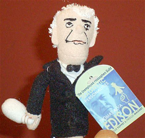 biography bottle buddies thomas edison edison finger puppet the national academies press