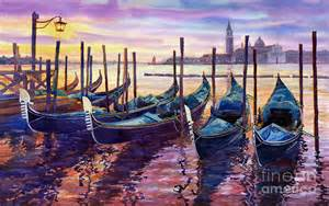 City Wall Murals italy venice early mornings painting by yuriy shevchuk