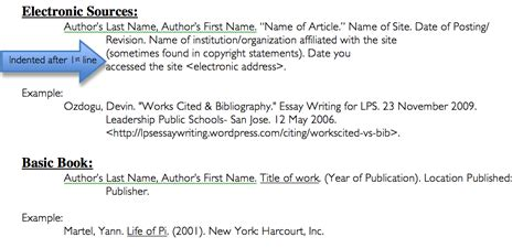 Citing An Essay In A Book by Works Cited Bibliography Essay Writing For Lps