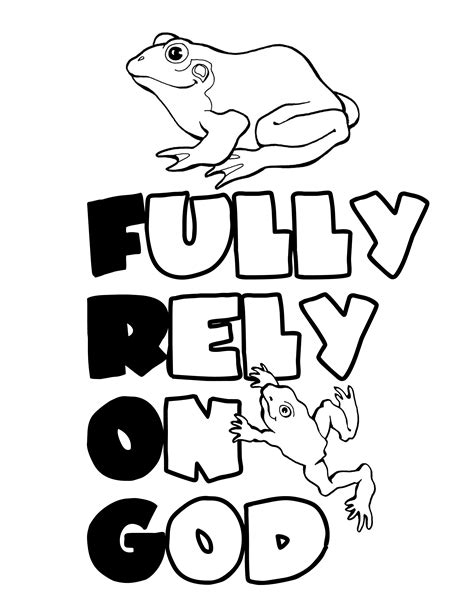 fully rely on god coloring page coloring home