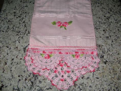 bicos de croch elo7 toalha de lavabo com bico de croche elo7