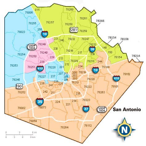 san antonio texas zip code map zip codes san antonio texas map