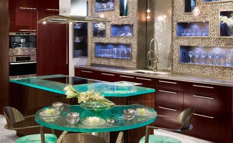 glass kitchen countertops  thinkglass idesignarch