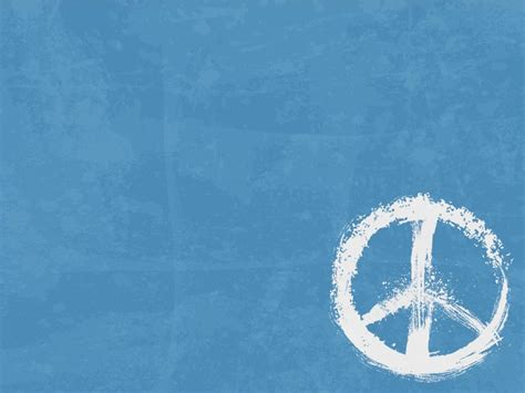 Peace Sign Powerpoint Templates Blue Objects Free Ppt   peace sign powerpoint templates blue objects free ppt