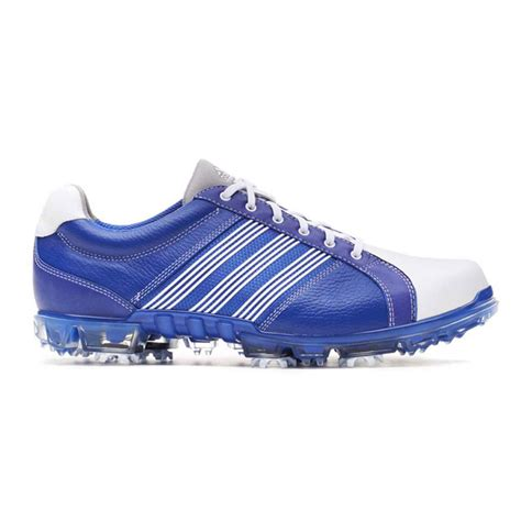 adidas adicross tour golf shoes mens white blue at intheholegolf