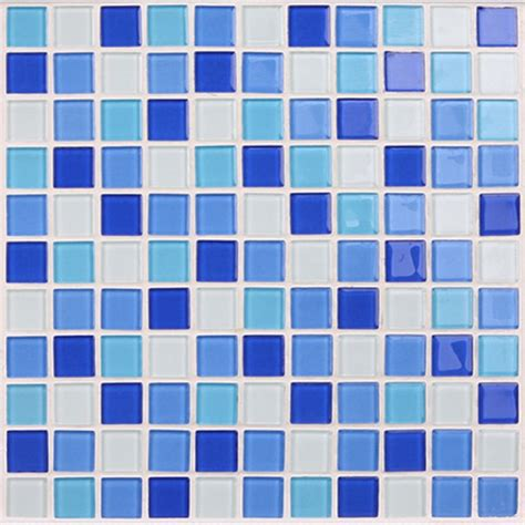 glass mosaic tile backsplash blue glass tile