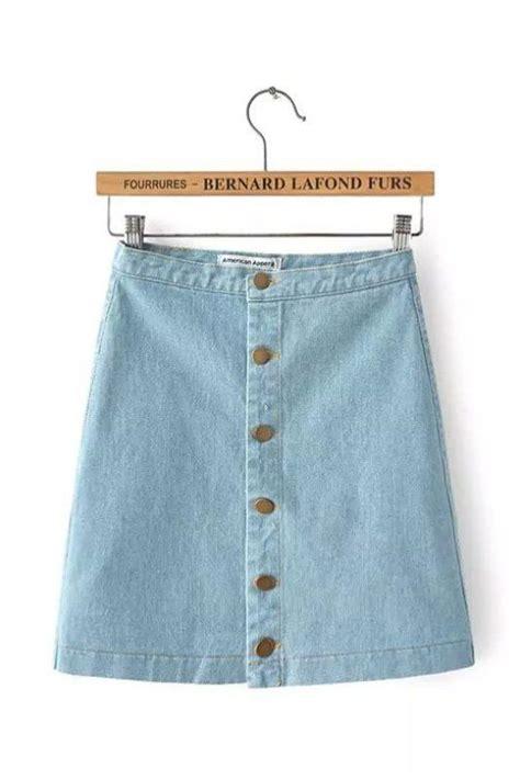 Botton Skirt Light Blue blue denim denim button up and skirts on