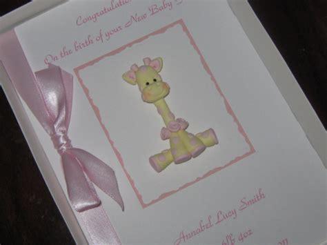 Handmade Personalised Birthday Cards - personalised handmade 1st birthday card new baby card