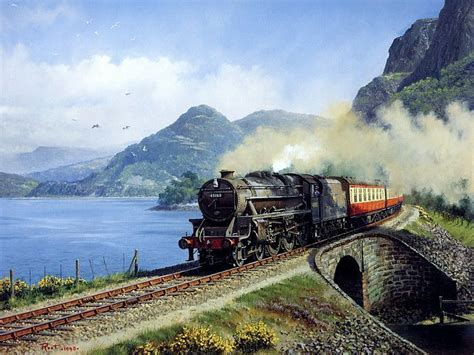 painting trains pictures of steam locomotive trains journeys
