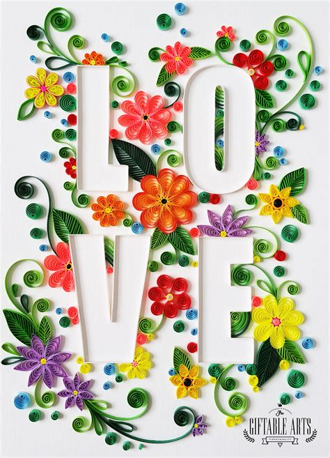 paper quilling typography tutorial https www behance net gallery 35815501 love is a