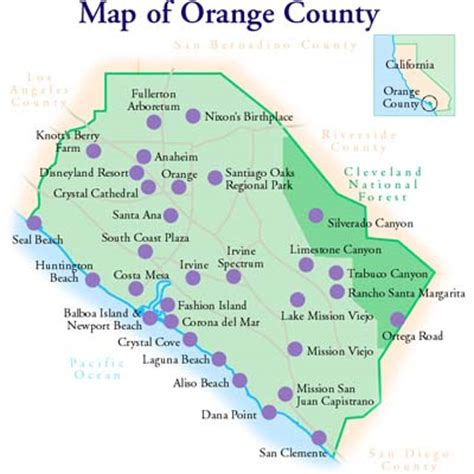 map of california orange county contact orange county town car rental at lax airport