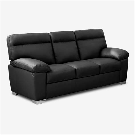 Leather High Back Sofa Alto Italian Inspired High Back Leather Sofa Collection In Black