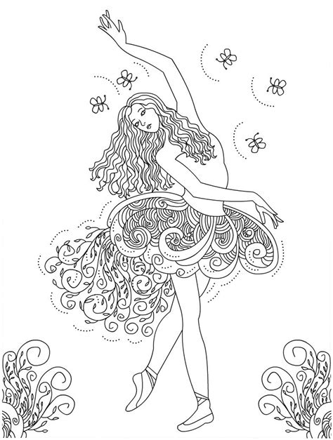 Ballerina Coloring Pages For Adults | free printable ballet coloring pages for kids