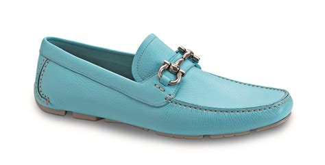 light in loafers ferragamo s light blue loafers