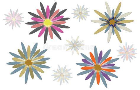 disegni astratti fiori disegni astratti fiore illustrazione vettoriale