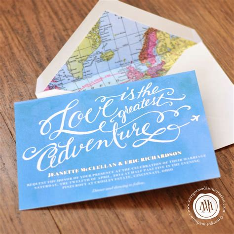 margotmadison travel themed wedding invitation