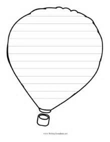 Writing Templates by Air Balloon Writing Template Writing Template