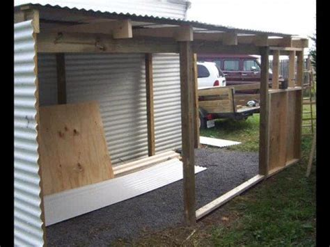 Carport With Storage Plans by Building A Lean To Shed Youtube
