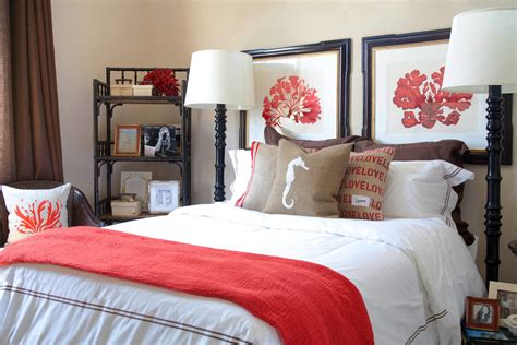 coral navy bedding navy and coral bedding bedroom beach with bed pillows burlap coastal beeyoutifullife com