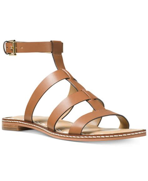 macy s gladiator sandals michael michael kors fallon gladiator flat sandals
