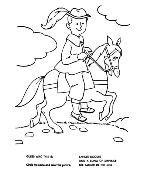 yankee doodle coloring page coloring home