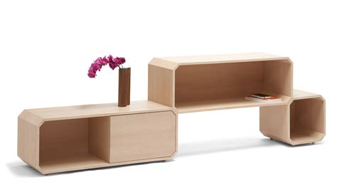 furniture designers modular wood storage furniture design in white oak of