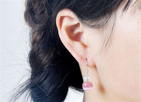 Tindik Pria Anting Earing Cowok Titanium Black Silver Anting Jepit korean opal earrings 925 sterling silver anting wanita pink jakartanotebook