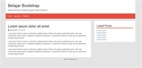 Membuat Web Menggunakan Bootstrap | belajar membuat template web menggunakan bootstrap