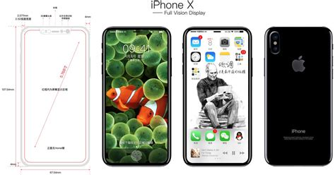 full vision display phone list new concept imagines iphone x with full vision display
