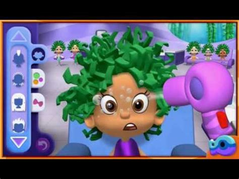 bubble guppies haircut game bubble guppies good hair day part 3 youtube